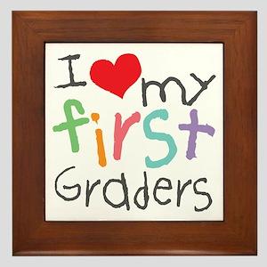 I Love My 1st Graders Framed Tile