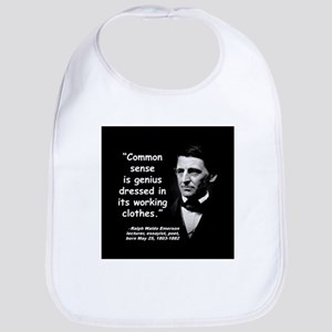 Emerson Genius Quote 2 Bib