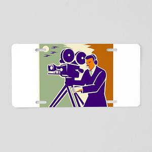 Cameraman Film Crew Vintage Video Movie Camera Alu