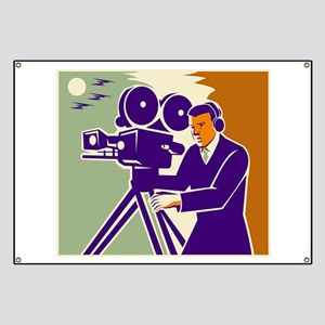 Cameraman Film Crew Vintage Video Movie Camera Ban