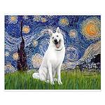 Starry-White German Shepherd Small Poster
