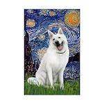 Starry-White German Shepherd Mini Poster Print