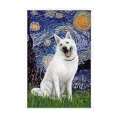 Starry-White German Shepherd Posters