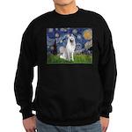 Starry-White German Shepherd Sweatshirt (dark)