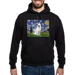 Starry-White German Shepherd Hoodie (dark)