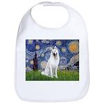 Starry-White German Shepherd Bib