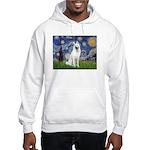 Starry-White German Shepherd Hooded Sweatshirt