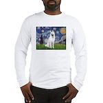 Starry-White German Shepherd Long Sleeve T-Shirt