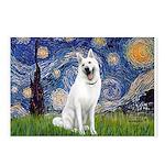 Starry-White German Shepherd Postcards (Package of