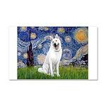 Starry-White German Shepherd Car Magnet 20 x 12
