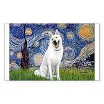 Starry-White German Shepherd Sticker (Rectangle)