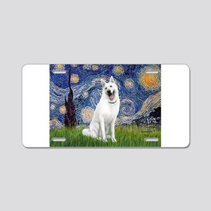 Starry-White German Shepherd Aluminum License Plat