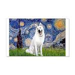 Starry-White German Shepherd 20x12 Wall Decal