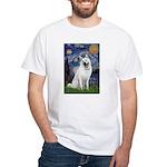 Starry-White German Shepherd White T-Shirt