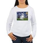 Starry-White German Shepherd Women's Long Sleeve T
