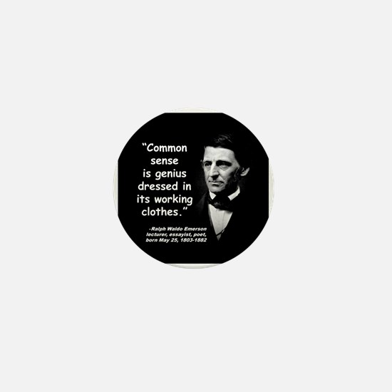 Emerson Genius Quote 2 Mini Button
