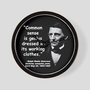 Emerson Genius Quote 2 Wall Clock
