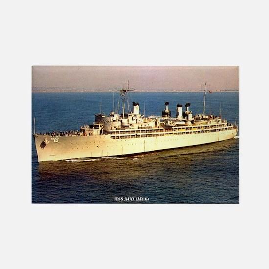 USS AJAX Rectangle Magnet