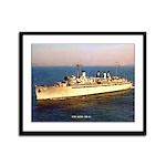 USS AJAX Framed Panel Print