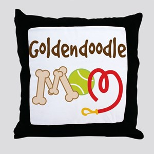 Goldendoodle Dog Mom Throw Pillow