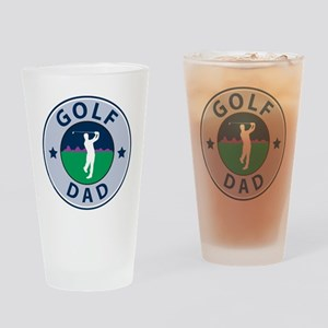 Golf Dad Fathers Drinking Glass
