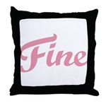 Fab Tabulous Throw Pillow