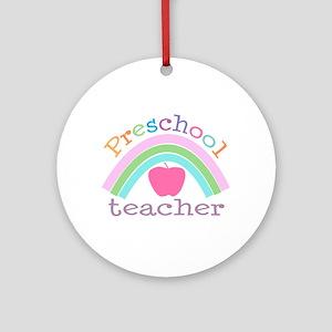 Preschool Teacher Ornament (Round)