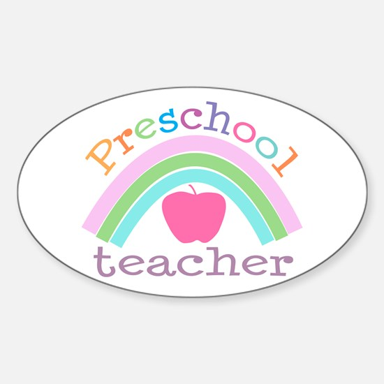 Preschool Teacher Oval Decal