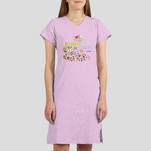 Hippie Chick at Heart Women's Nightshirt