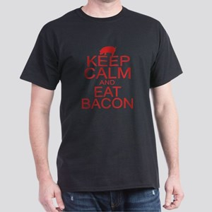 Keep Calm and Eat Bacon Dark T-Shirt