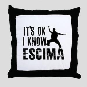 Escrima Designs Throw Pillow