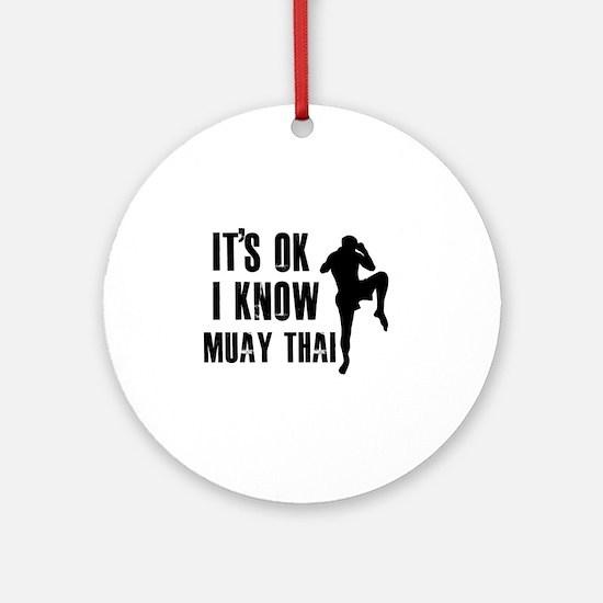 Muay Thai Designs Ornament (Round)