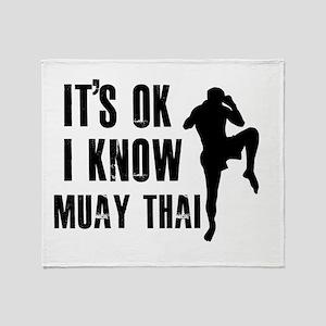 Muay Thai Designs Throw Blanket