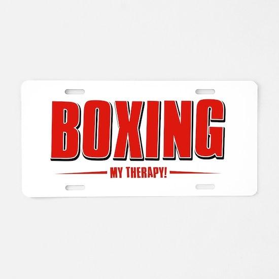 Boxing Designs Aluminum License Plate