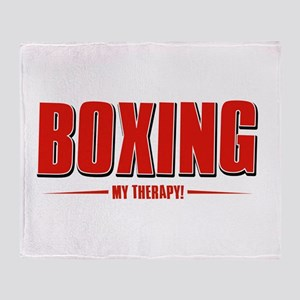 Boxing Designs Throw Blanket