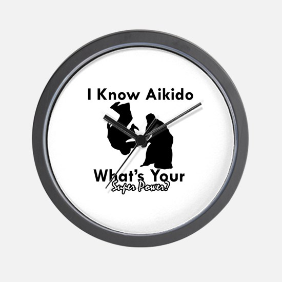 Aikido Is My Superpower Wall Clock