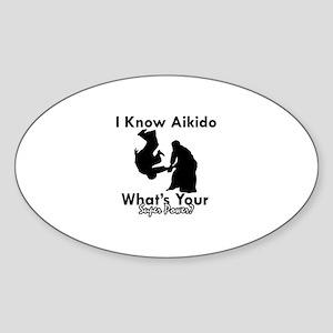 Aikido Is My Superpower Sticker (Oval)
