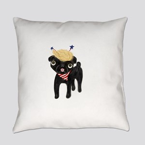 Trumped black pug Everyday Pillow