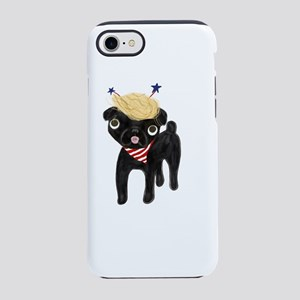 Trumped black pug iPhone 7 Tough Case