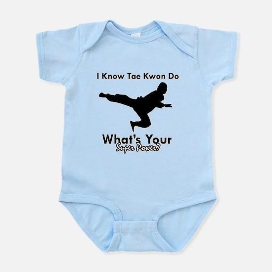 Taekwondo Is My Superpower design Infant Bodysuit