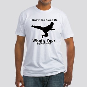 Taekwondo Is My Superpower design Fitted T-Shirt