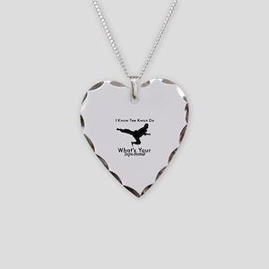 Taekwondo Is My Superpower design Necklace Heart C