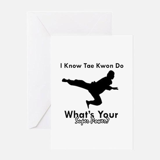 Taekwondo Is My Superpower design Greeting Card