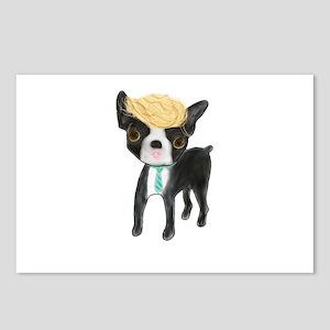 Trumped Boston terrier Postcards (Package of 8)