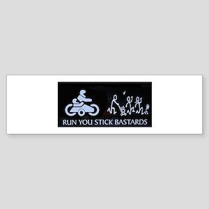 Sidecar anti stick people Sticker (Bumper)