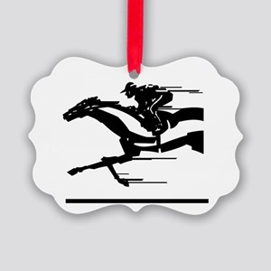 Horse Racing Picture Ornament
