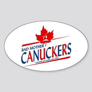 Canadian with Attitude Oval Sticker