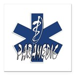 Paramedic Action Square Car Magnet 3