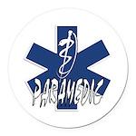 Paramedic Action Round Car Magnet