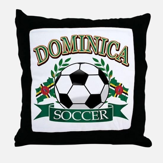 Dominican Football Throw Pillow